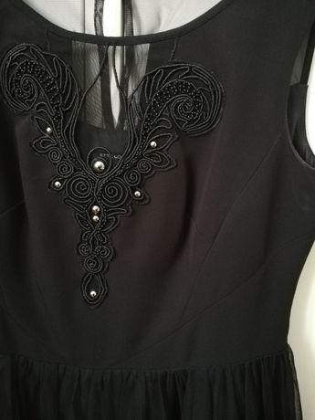 czarna sukienka ette lou