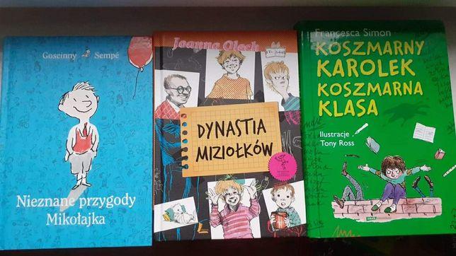 Trzy książki Mikołajek, Dynastia Niziołków,Koszmarny Karolek
