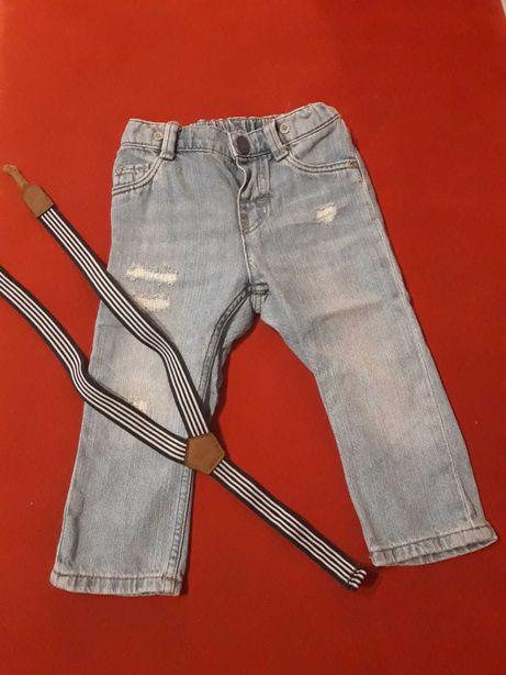 Spodnie na szelki roz. 80