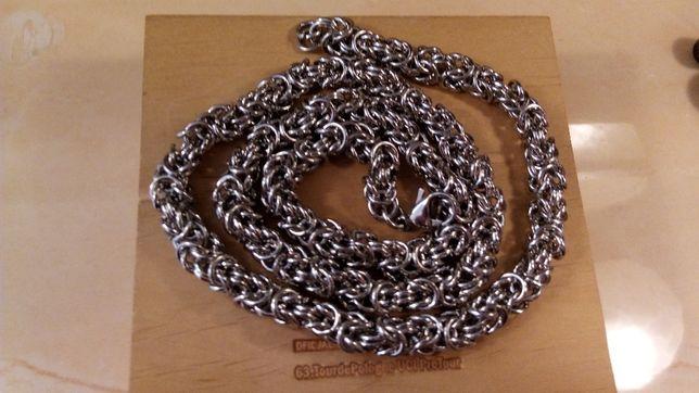 Srebrny łańcuszek,złoty łańcuszek,splot królewski,galibardi,316l,NOWY