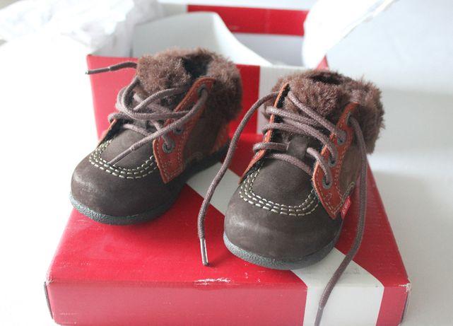 Zimowe buty KICKERS - jak nowe - rozm. 19
