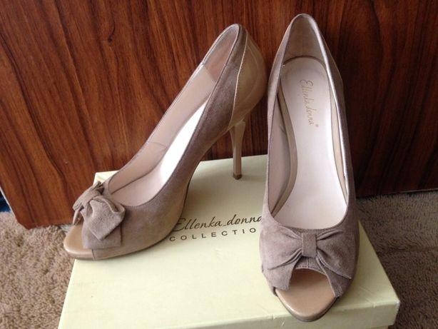 Туфли замшевые 38 размер (25-25,5 см)