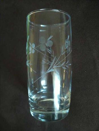 Szklanki do napojów - szkło szlifowane (komplet 11 sztuk)