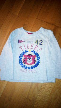 Детская футболка с длинным рукавом 92 рост