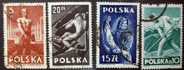 Znaczki polskie Fi 437-440