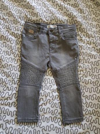 Zara spodnie szare motocyklowe 86