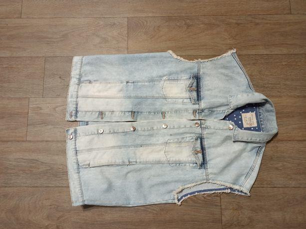 Жилетка джинсовая оверсайз унисекс Zara