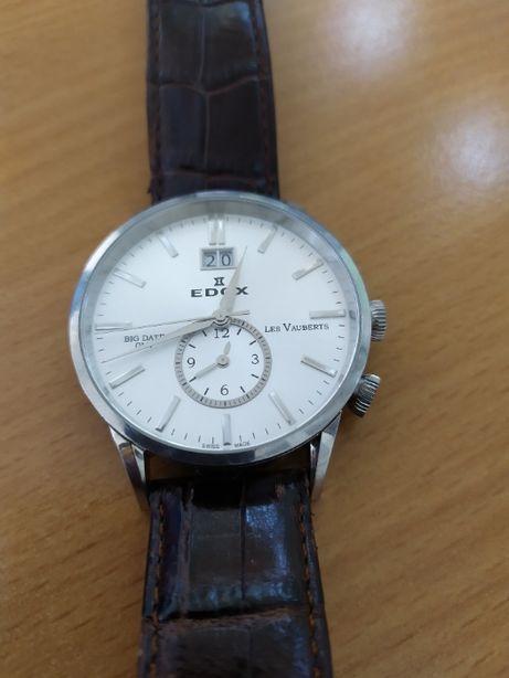 Часы Edox Les Vauberts GMT Big Date 62003 3 AIN