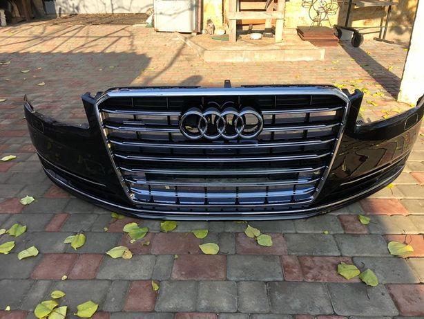 Бампер передний Audi А8 d4, целый, 17 год