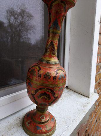 Бронзовая напольная ваза
