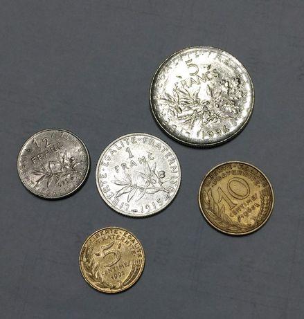 1 Франк 1915, серебро монета Франции