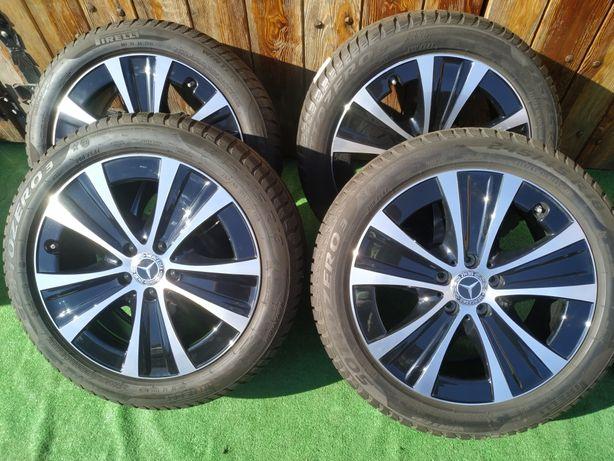Koła 18 cali Alufelgi oryginalne Mercedes 5x112, Pirelli 245/45/18 MOE