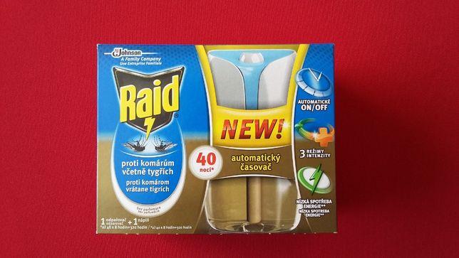 RAID NEW Urządzenie na komary - automat 40 nocy NOWOŚĆ! RABAT GRATISY