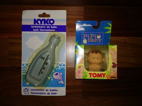 Termómetro Banho e Brinquedo de Banho Pipi baby Tomy NOVOS