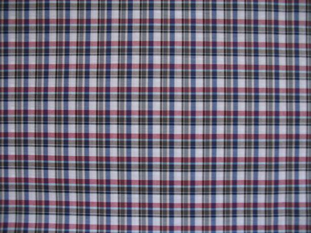 Tkanina - bawełna koszulowa w kratkę, dwa rodzaje