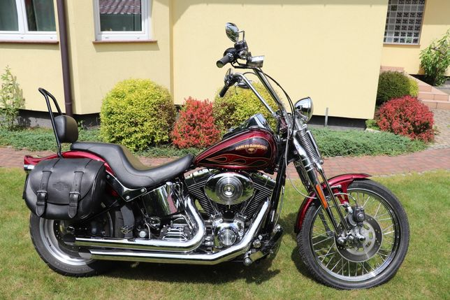 Harley Davidson Softail Springer 7800mil, koło 200mm.
