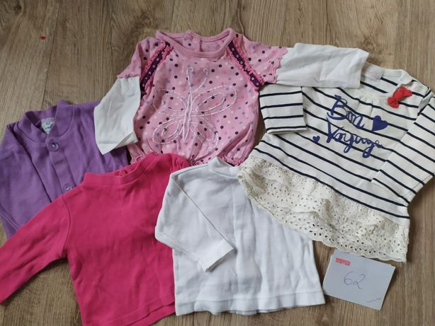 Ubranka 62 - 10 sztuk, bluzki, pajace
