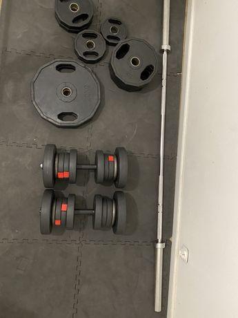 SIŁOWNIA DOMOWA squat rack, obciażenie olimpijskie, hantle 20kg,wyciąg