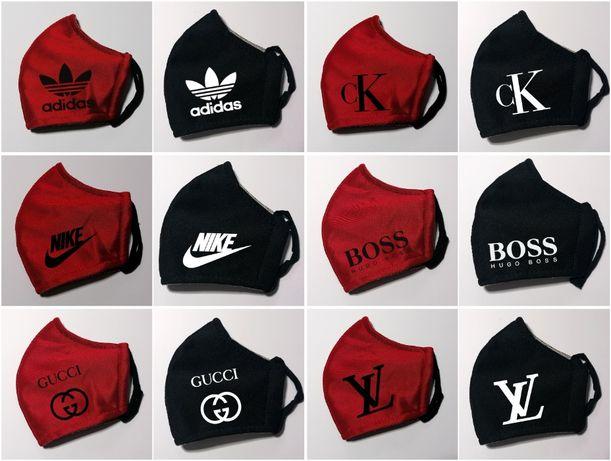 Maseczka Nike Armani Hugo Boss Calvin Klein Louis Vuitton Adidas