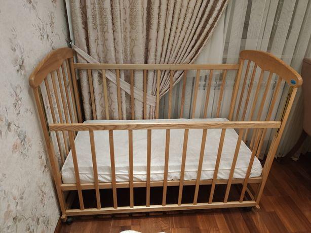 Кровать детская, манеж+ матрас