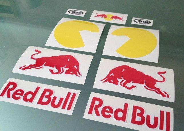 Red Bull capacete autocolantes