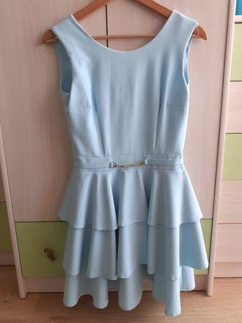 Błękitna sukienka rozm 36