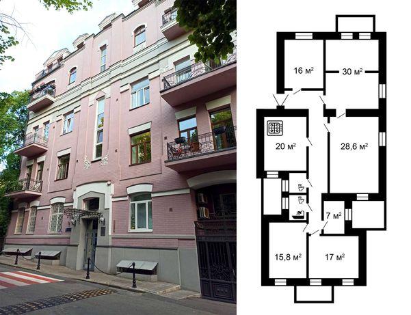 6к квартира (Киев, Липки, 165 м2) - переулок Козловского, 4