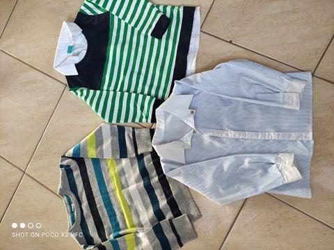 Zestaw, koszula, sweter, bluza z kołnierzykiem 110/116 wizytowe