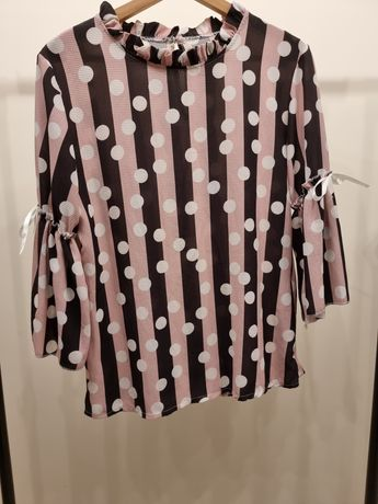 Elegancka bluzka w grochy M