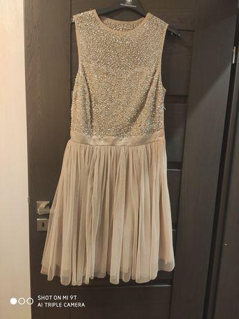 Sukienka wieczorowa tiul cekiny rozmiar M/L