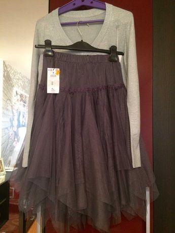 Фатінова юбочка зі срібною кофтинкою, S-M-L