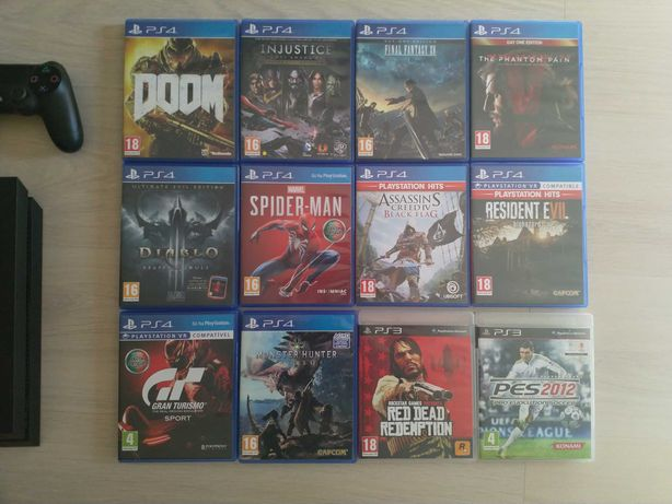 25 jogos PS4 (conj. ou sep.)