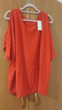 Nowa czerwona bluzka z metka xl do 4xl