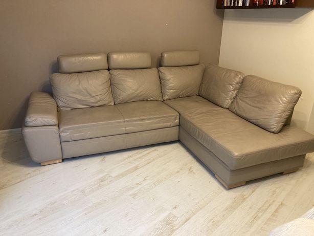 Sofa narożnik skóra etap sofa
