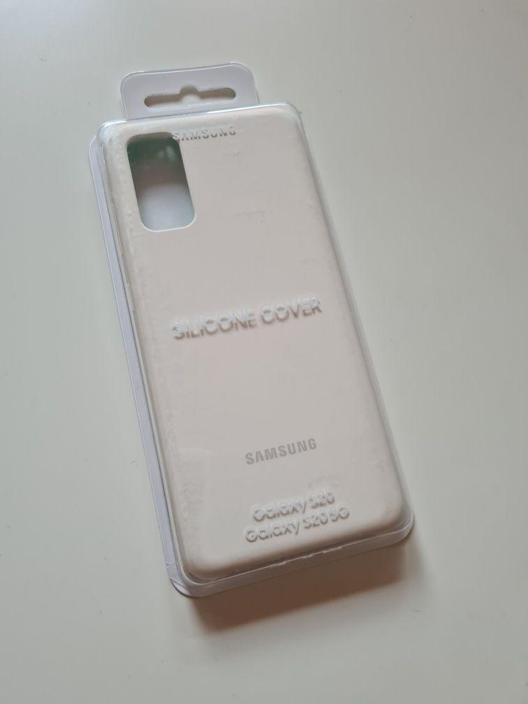 Oryginalne Etui Samsung Sillivone Cover Galaxy S20 białe white