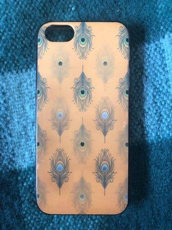 Capa telemóvel iPhone 5s, amarela padrão