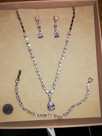 Naszyjnik, kolczyki, bransoletka, nowa biżuteria.