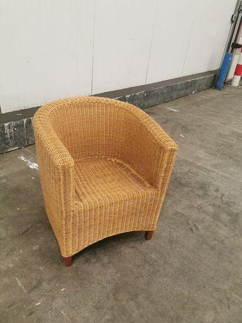 Fotel rattanowy bez poduszki