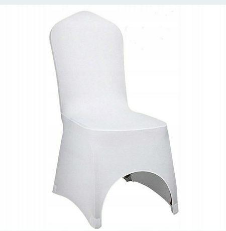 Pokrowce na krzesła białe