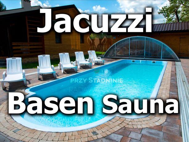 BASEN, SAUNA, JACUZZI Radawa - Domki przy Stadninie Radawa Domek