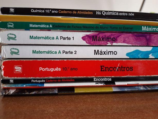 Manuais e cadernos de atividades 10°ano