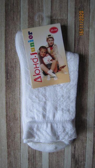 Для девочки носки новые белые дюна р.22-24