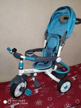 Детский трехколёсный велосипед , велосипед коляска ,трехколесный байк