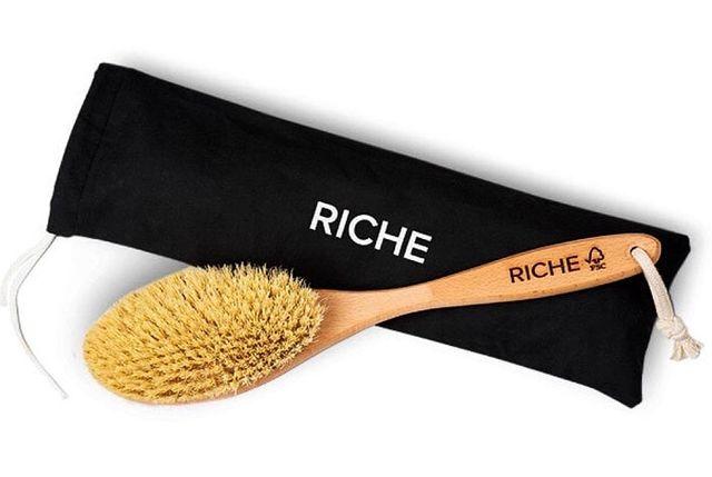 Щетка для сухого массажа RICHE, антицеллюлит массаж щетка, дренажная