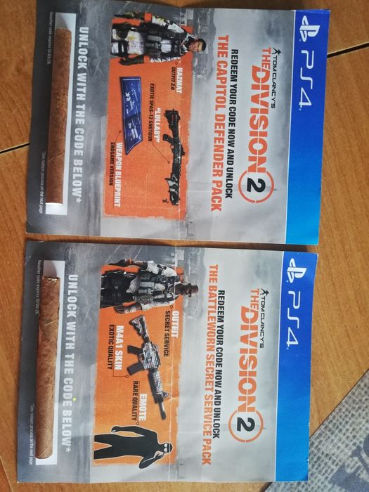 Division 2 PS4 kody Secret servise PACK I the Capitol Defender PACK Wałbrzych - image 1