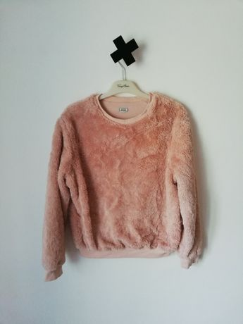 Pimkie M 38 włochacz pudrowa bluza pudrowy róż fluffy nude sweterek