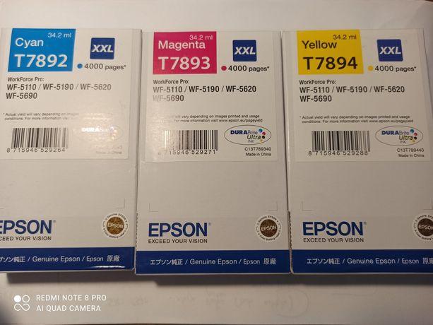Tusze Epson T7892 T7893 T7894 XXL