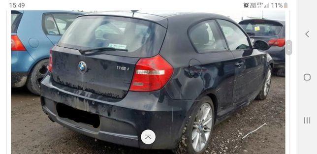 Maska błotnik zderzak drzwi BMW E81 E87 m pakiet, lift black sapphire