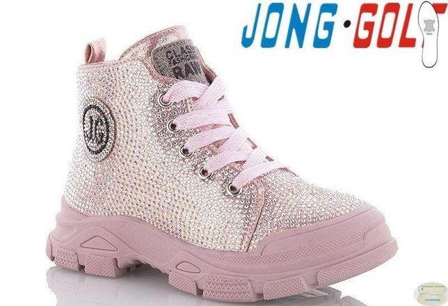Демисезонные ботинки со стразами jong golf