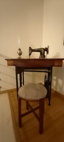 Maquina costura Pfaff antiga recuperada